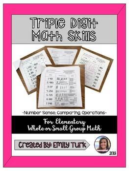Triple Digit Math Skills
