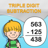 Triple Digit Subtraction Worksheet Maker - Create Infinite