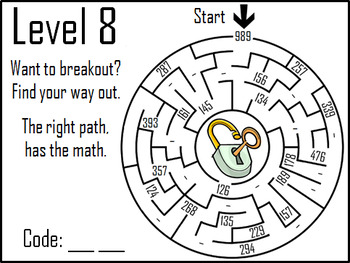 Triple Digit Subtraction With Regrouping Game: Digital Escape Room Math
