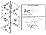 Triple Digit Subtraction With and Without Regrouping Game: Math Tarsia Puzzle