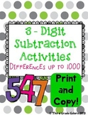 Triple Digit Subtraction Within 1000