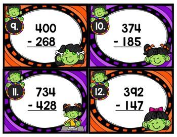 Triple Digit Subtraction Zombie Kids Scoot