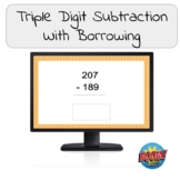 Triple Digit Subtraction with Borrowing from Zero Boom Cards