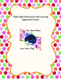 Triple Digit Subtraction with Carrying Aggravation Game (CCSS aligned)