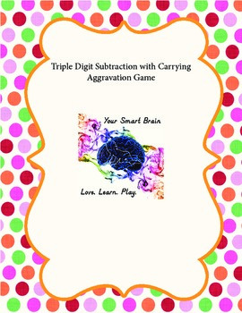 Triple Digit Subtraction with Carrying Aggravation Game (C