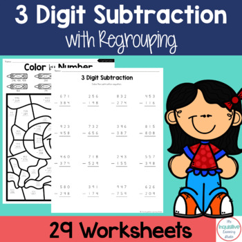 Triple Digit Subtraction with Regrouping Worksheets