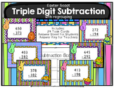 Triple Digit Subtraction with Regrouping Scoot Easter