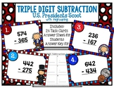 Triple Digit Subtraction with Regrouping U.S. Presidents T