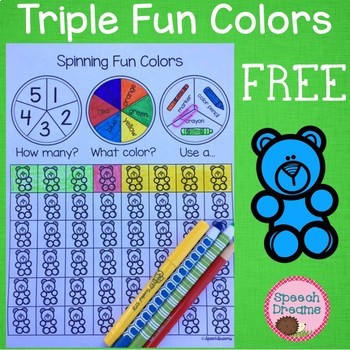 Triple Fun Color Spinning Activity Color Identification