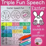 Triple Fun Easter Speech Therapy Spinning Activity {articulation}