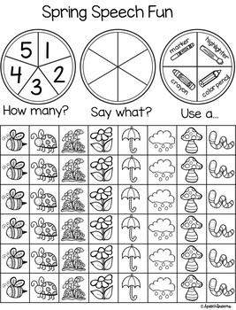 Triple Fun Spring Speech Therapy Spinning Activity {articulation}
