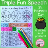 St. Patrick's Day Speech Therapy Spinning Activity {articulation} triple fun