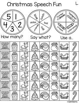 Triple Fun Speech Therapy Spinning Activity BUNDLE {articulation}