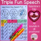 Triple Fun Valentine's Day Speech Therapy Spinning Activity {articulation}