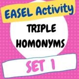 Triple Homonyms Worksheet 1