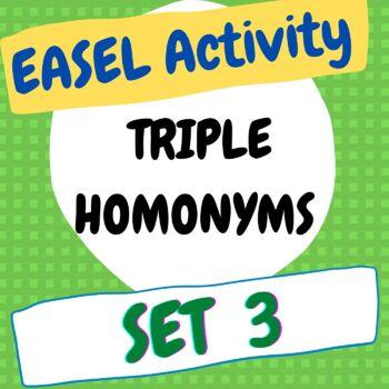 Triple Homonyms Worksheet 3