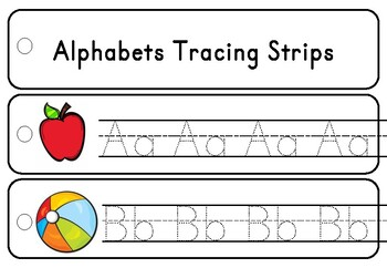 Triple Lines Alphabet Tracing Strips SAMPLE