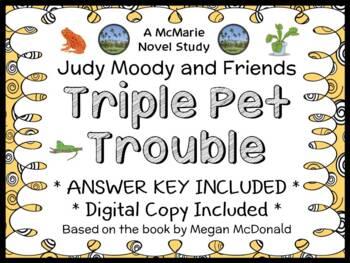 Triple Pet Trouble (Megan McDonald) Novel Study / Comprehension  (17 pages)