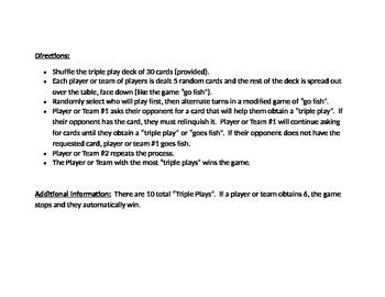 Triple Play Activity