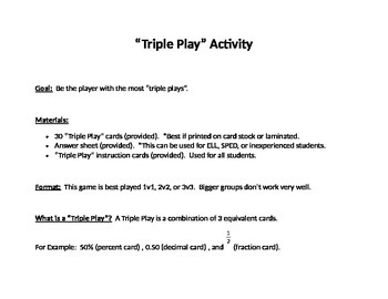 Triple Play Activity