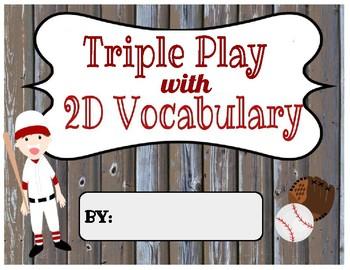Triple Play Vocabulary- Digital & Printable (2D shape sample)
