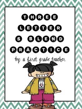 Triple S-Blend Practice Worksheets
