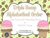 Alphabetical Order Task Cards or SCOOT Game with Ice Cream
