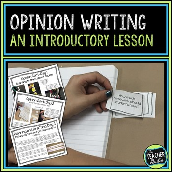 Triple Scoop Lesson:  Introducing Opinion Writing