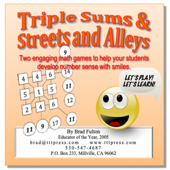 Triple Sums and Streets & Alleys: Two Games that Build Number Sense with Smiles