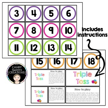 Triple Toss Dice Addition Game