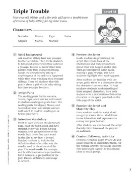 Triple Trouble (Leveled Readers' Theater, Grade 4)