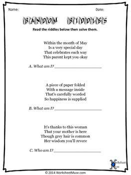 Mother's Day: Triple True Facts and Double Daily Worksheets Sample Pack
