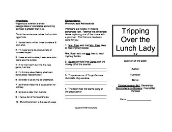 Tripping Over the Lunch Lady Trifold (Reading Street 2011 Edition)