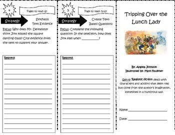 Tripping Over the Lunch Lady Trifold Reading Street 5th Grade Unit 4 Week 2
