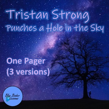 Tristan Strong Punches a Hole in the Sky One Pager