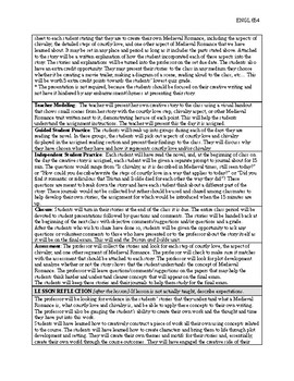 Tristan and Isolde Lesson plan