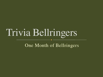 Trivia Bell Ringers - One Month