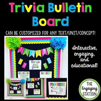Trivia Bulletin Board: Customize for ANY Text/Unit/Concept