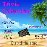Trivia Calendar - Language Arts (PowerPoint)