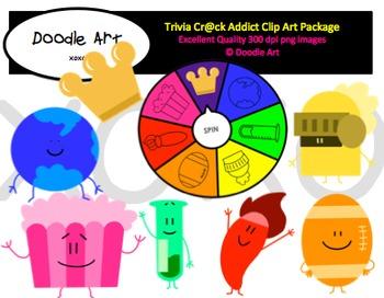 Trivia Crack Addict Clipart Pack