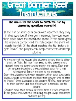 Trivia Game - Great Barrier Reef