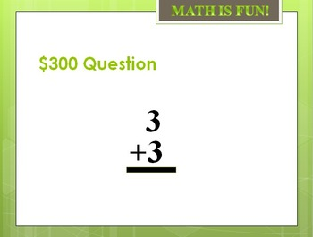 Math Trivia Game: Single Digit Addition