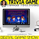 Trivia Game Stranger Things Inspired: Distance Learning