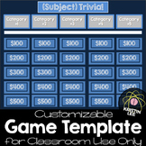Trivia Game Template - For CLASSROOM Use Only
