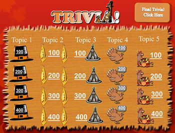 Trivia Holiday Pack - Halloween, Thanksgiving, & Christmas Jeopardy-Like