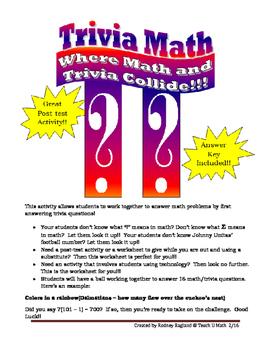 Trivia Math Challenge
