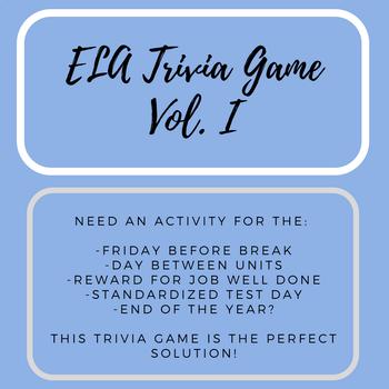 ELA Trivia Game Vol. I