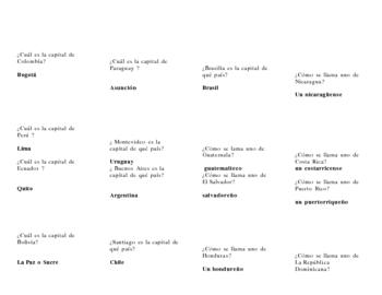 Trivia questions #6 (salir, hacer, jugar, person, number, present prog
