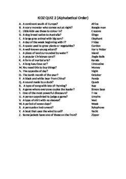 Trivia Quiz - General Knowledge 2 & 3