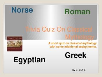Trivia Quiz On Classical Mythology
